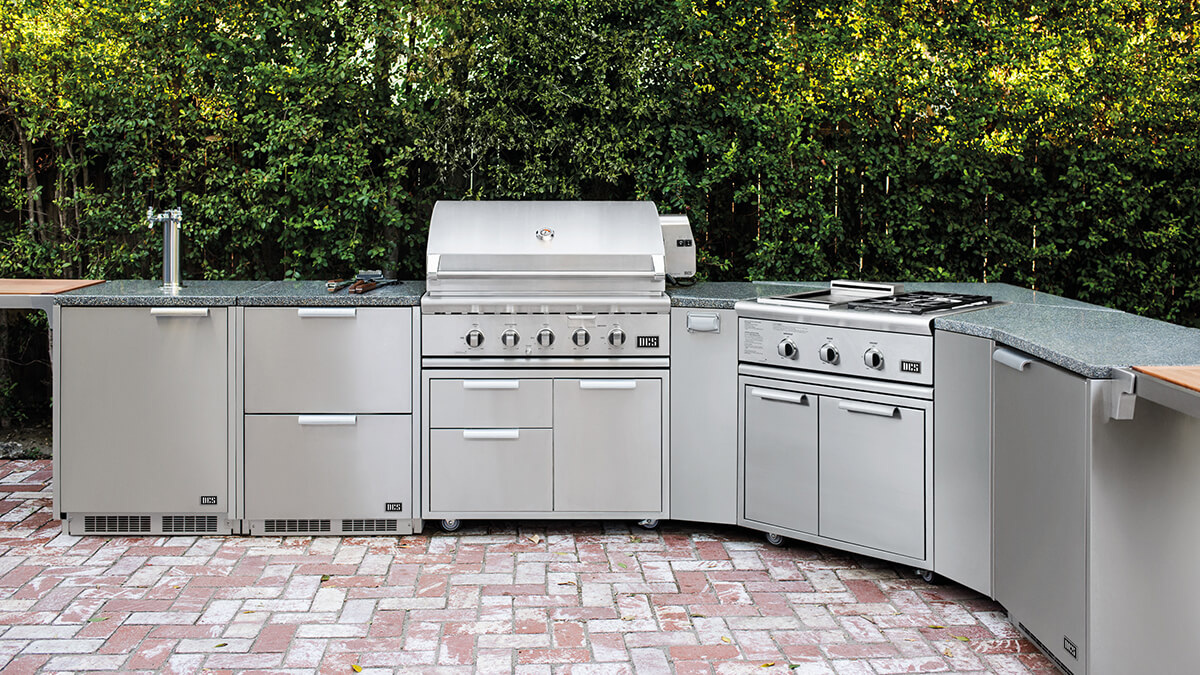 Chef Ludo's Outdoor Kitchen featuring DCS Appliances