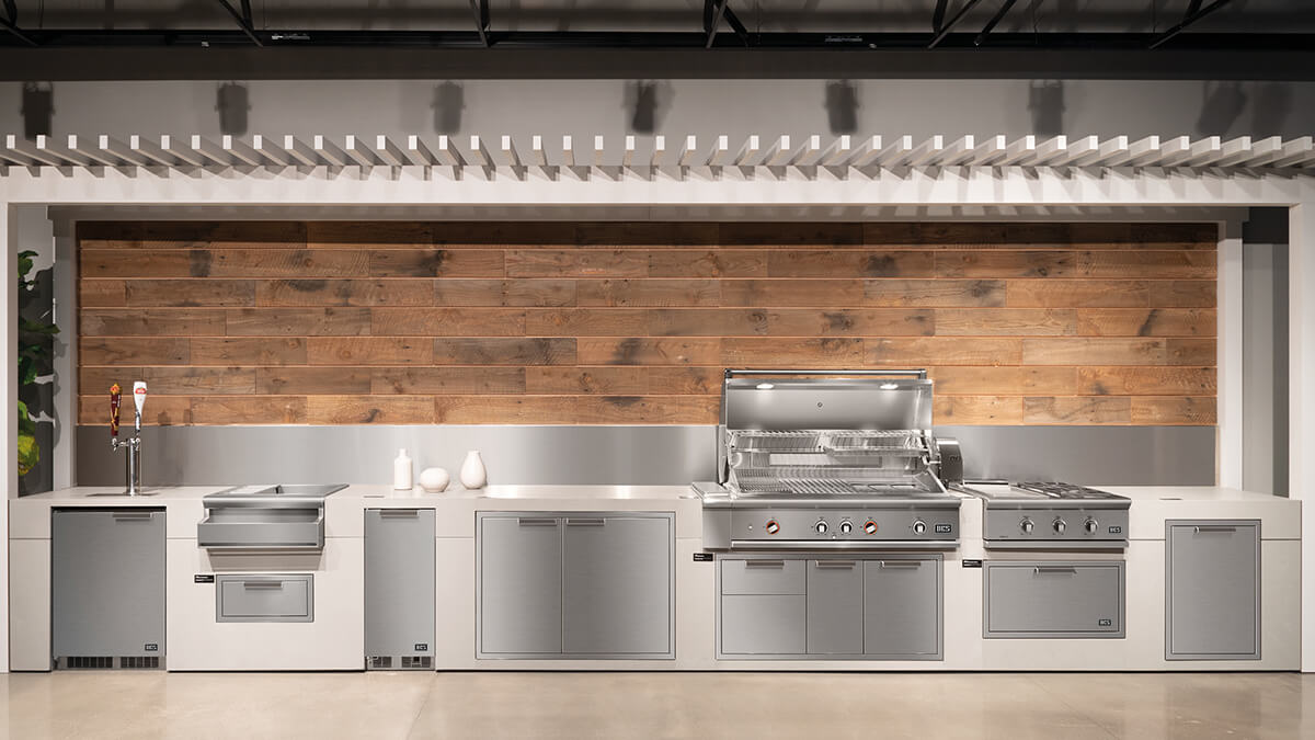 Demonstration Kitchen Featuring DCS Appliances at Costa Mesa Experience Centre.