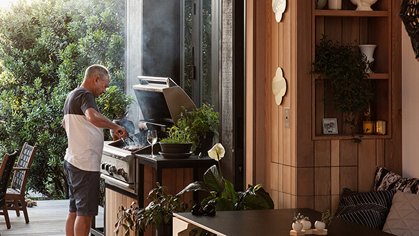 Outdoor Kitchen at the Mount.