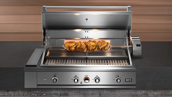 Heavy duty infrared rotisserie
