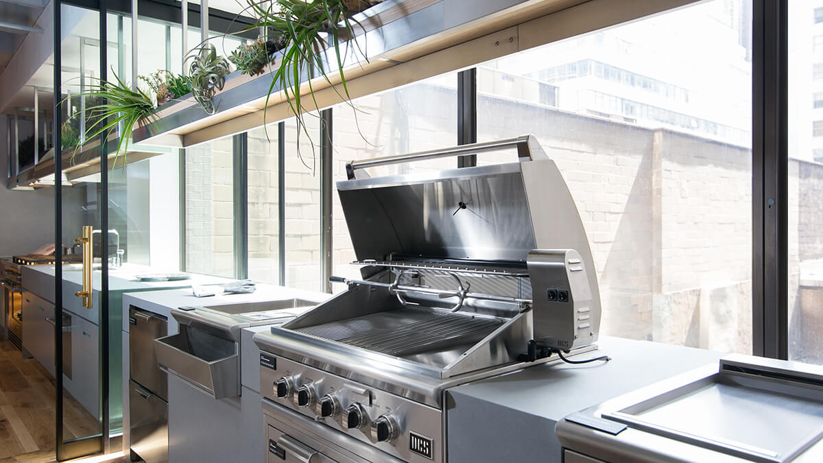 Demonstration Kitchen Featuring DCS Appliances at New York Experience Center